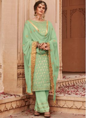 Nice Trendy Palazzo Salwar Suit For Reception