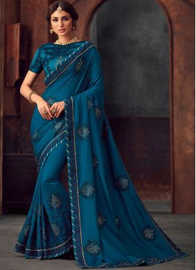 Observable Silk Embroidered Traditional Saree