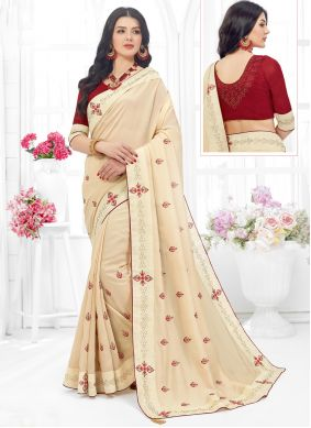 Off White Contemporary Saree