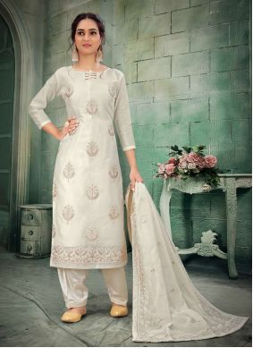 Off White Party Bollywood Salwar Kameez