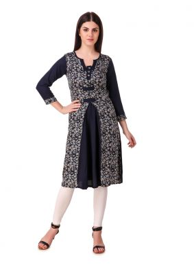 Opulent Black Party Casual Kurti