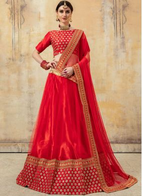 Opulent Resham Fancy Fabric Lehenga Choli