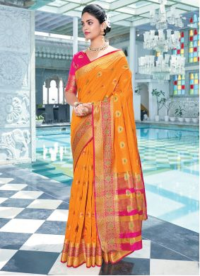 Orange Color Traditional Saree