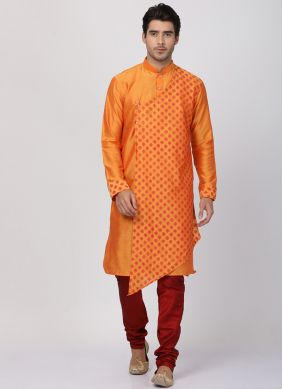 Orange Wedding Kurta Pyjama