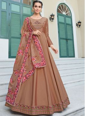 Orphic Brown Silk Gown