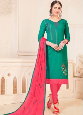 Outstanding Churidar Suit For Casual