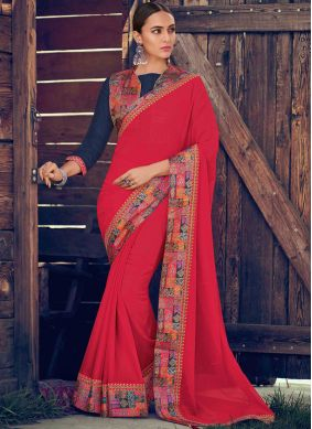 Outstanding Georgette Trendy Saree
