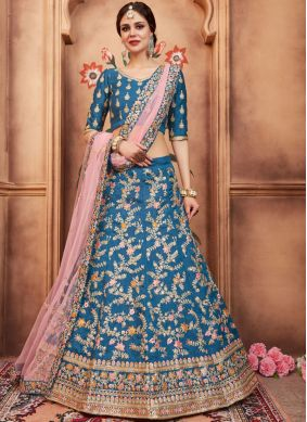 Outstanding Resham Art Silk Lehenga Choli