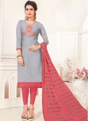 Paramount Embroidered Festival Churidar Suit