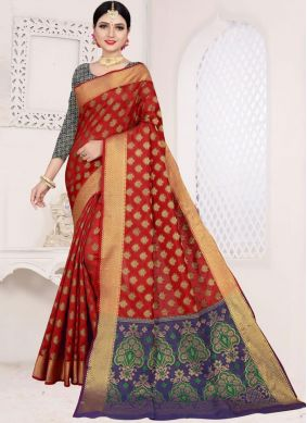 Paramount Weaving Art Silk Cotton Casual Saree