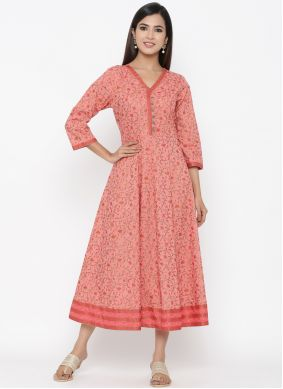 Pink Party Wear Kurti For Casual