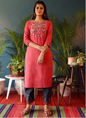 Pink  Party Wear Kurti For Party