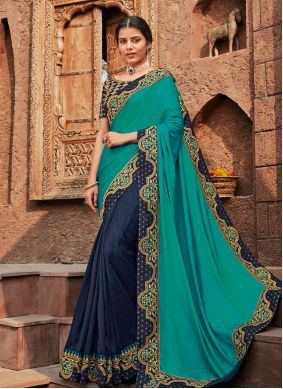 Patch Border Reception Designer Saree