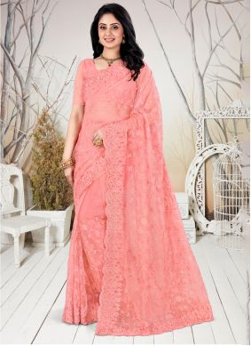 Peach Party Trendy Saree