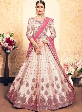 Peach Thread Sangeet Trendy Lehenga Choli
