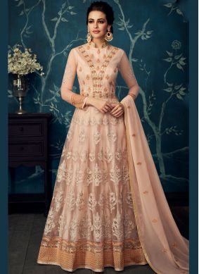 Peach Wedding Anarkali Salwar Suit