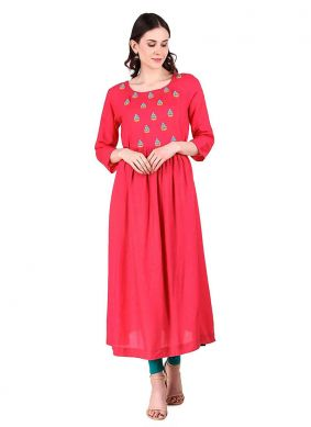 Peppy Embroidered Party Designer Kurti