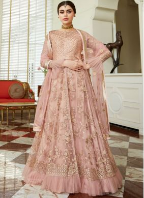 Perfect Resham Net Long Choli Lehenga