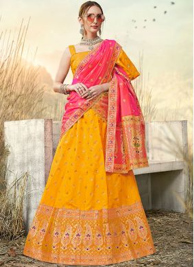 Perfervid Banarasi Silk Party A Line Lehenga Choli