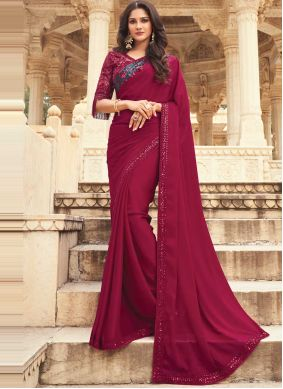 Pink and Purple Festival Shaded Saree