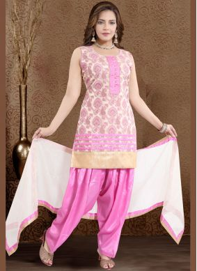 Pink Banglori Silk Readymade Suit