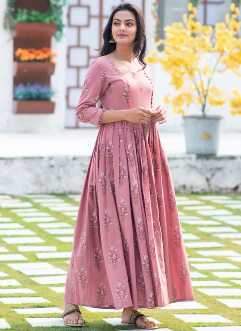 Pink Casual Designer Gown