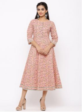 Pink Color Casual Kurti