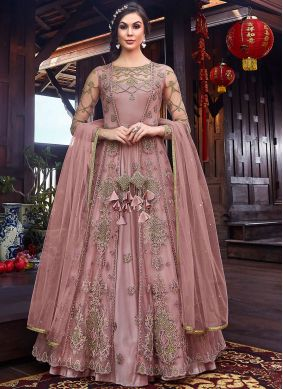 Pink Color Floor Length Anarkali Suit