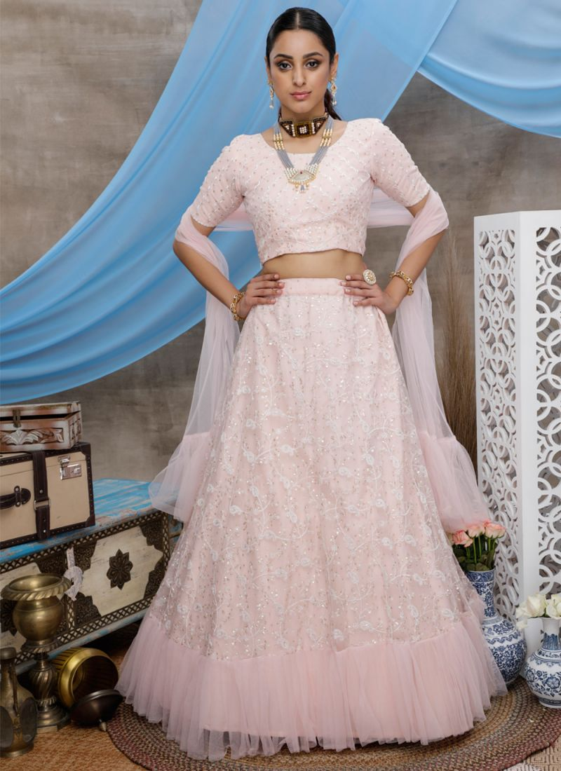 Pink Color Trendy Lehenga Choli