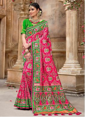 Pink Embroidered Sangeet Traditional Designer Saree