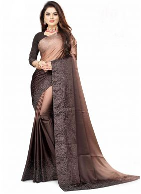 Pink Fancy Festival Shaded Saree