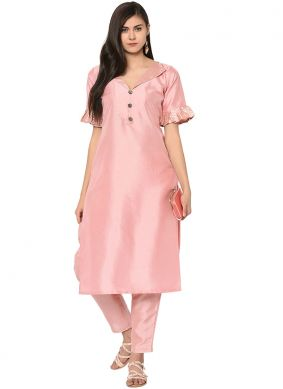Pink Fancy Party Wear Kurti