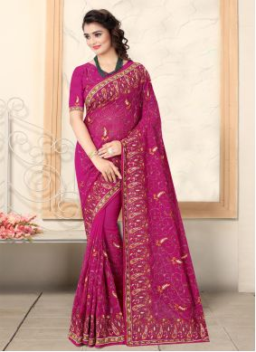 Pink Georgette Bollywood Saree