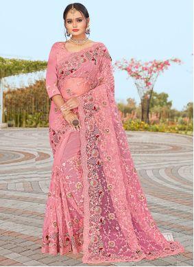 Pink Mehndi Designer Saree