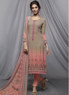 Pink Party Faux Georgette Churidar Designer Suit