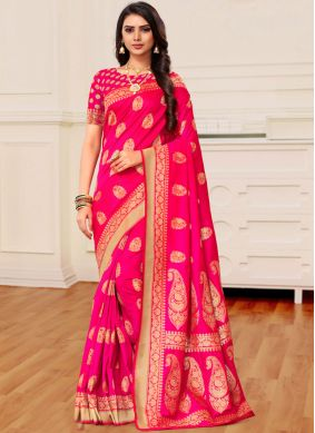 Pink Reception Classic Saree
