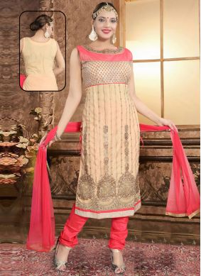 Pink Reception Net Salwar Suit