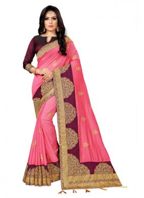 Pink Trendy Saree