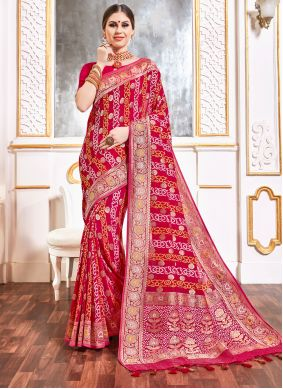 Pink Viscose Party Bollywood Saree