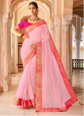 Pink Weaving Festival Casual Saree