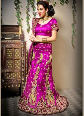 Pink Wedding Designer Lehenga Choli