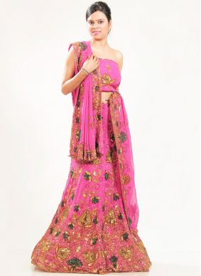 Pink Wedding Lehenga Choli