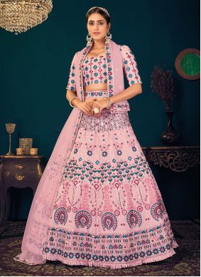 Pink Wedding Trendy Lehenga Choli