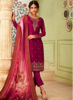 Piquant Resham Party Pant Style Suit