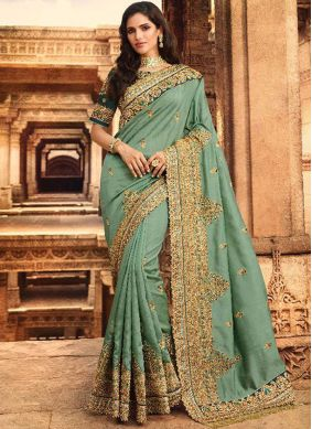 Piquant Silk Wedding Designer Saree