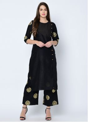 Plain Art Silk Casual Kurti