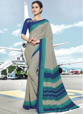 Pleasance Printed Multi Colour Polly Cotton Casual Saree