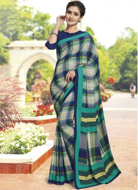 Polly Cotton Casual Saree in Multi Colour