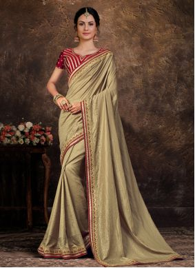 Poly Silk Green Classic Saree