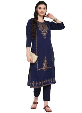 Poly Silk Print Party Wear Kurti